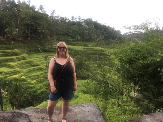 Visiting the Tegallalang Rice Terrace's in Bali