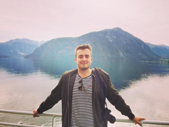 Sailing down the Norwegian fjords