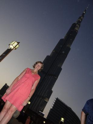 At the Worlds tallest building - Dubai
