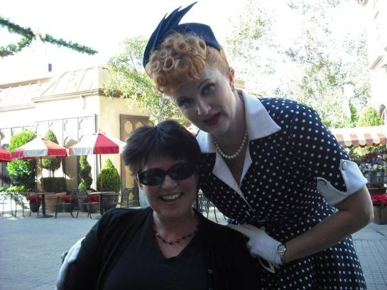 With Lucille Ball at Universal Studios