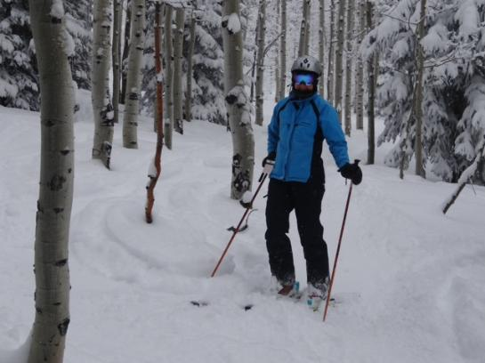 Skiing in Steamboat, Colorado