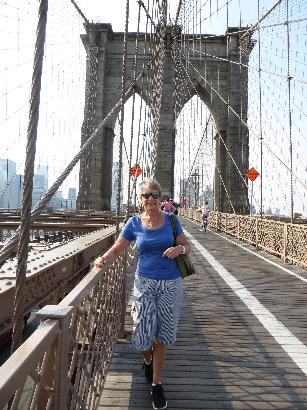 Strolling Brooklyn Bridge, New York