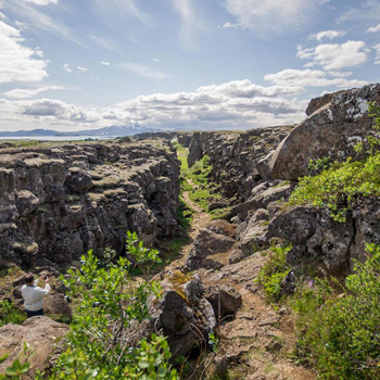 Game of Thrones Filiming Locations such Thingvellir National Park known to be where the fight between The Hound and Brienne of Tarth took place