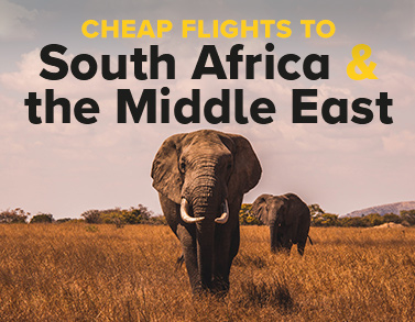 Cheap flights to South Africa and Middle East