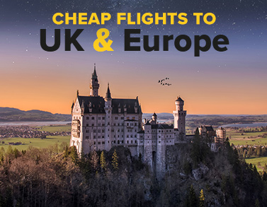 Cheap flights to UK and Europe